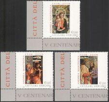Vatican 2006 Mantegna/Artists/Art/Paintings/Madonna/Child/Saints 3v set (n44530)