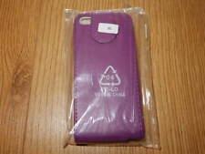 Iphone 5 ~ teléfono caso/cubierta ~ púrpura de imitación de cuero con cierre magnético cartera abierta ~ BNIP Nuevo