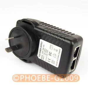 Gigabit 48V PoE Injector Adapter Power Over Ethernet 802.3at af UBNT AP 1000Mbps