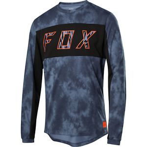 NEW Fox Racing Ranger LS Dri-Release Elevated MTB Cycling Jersey Blue Steel MD