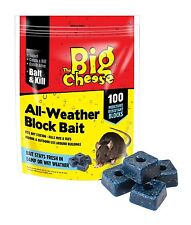 Big Cheese 400 All Weather Blocks Poison Block Bait Rat Mouse Mice Rodent STV114