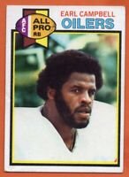 1979 Topps #390 Earl Campbell VG-VGEX WRINKLE Houston Oilers ROOKIE RC FREE S/H
