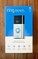 BRAND NEW Ring Doorbell HD Wi-Fi Video Doorbell Smart Doorbell Satin Nickel 720P