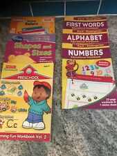 Lot Of 6 Preschool Homeschool Teaching Learning System Educational Workbooks