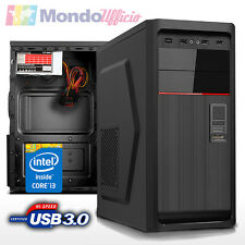 PC Computer Desktop Intel i3 4160 3,60 Ghz - Ram 8 GB - SSD 240 GB - USB 3.0