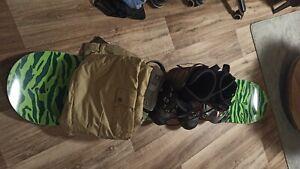 Snowboard 158 cm - 160cm, mit Bindung, Stiefel Gr. 43 1/2.Hose 33/33