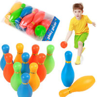 10 Pin Kegel 2 Bälle Bowling Set Indoor Outdoor Party Spiel Toy Kid Kind Farbe