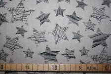 Resto de 60 cm de algodón muselina estrellas garabatees paloma Crash