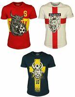 Mens Jack & Jones Animal Head Printed Casual Crew Neck Short Sleeve T-shirt Tee