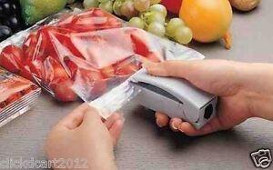 Mini Battery Operated Portable Handy Plastic Food Storage Bag Sealer