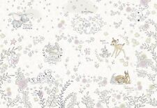 Baby bedroom wallpaper mural Bambi Dalmatians Disney Brown/Beige big poster GLUE
