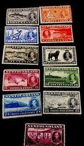 1854 Newfoundland/canada Stamps. Sc. 233-243 Long Coronation. Phillip Animals