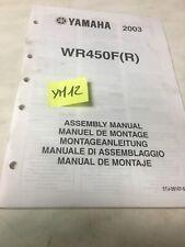 Yamaha WR450F R 2003  instruction preparation setup manuel montage WRF450