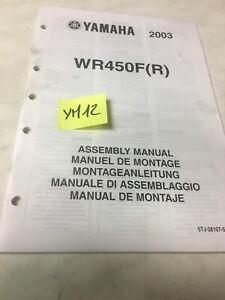 Yamaha WR450F R 2003 Instrucciones Preparation Instalacion Manual Montaje WRF450