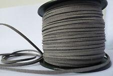 Schmuckband Weiches Wildlederband Lederimitat 3mm flach Wildleder Lederband