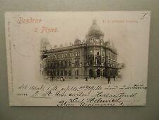 Ansichtskarte Pozdrav Plzne Pilsen  Postovni Budova 1897