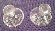 Hummingbird Crystal Candlestick Holders, Set Of 2, New In Box*Avon*
