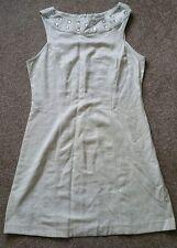 GEORGE @ ASDA JEWEL DETAIL SHIFT CHAMPAGNE SHEEN SLEEVELESS COCKTAIL DRESS SZ 14