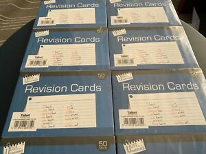 REVISION CARDS 400 IN TOTAL DECENT QUALITY RULED 8 PACKS OF 50