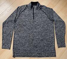 Under Armour Heat Gear Mens Half Zip Jacket Pullover M Loose Nwot Gray