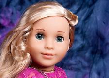 Custom American Girl Doll blue eyes Marie Grace Tenney body and blond wig OOAK