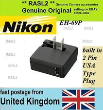 Genuine Original NIKON CoolPix AC Adapter Charger EH-69P S9100 S8200 S6200 S6150
