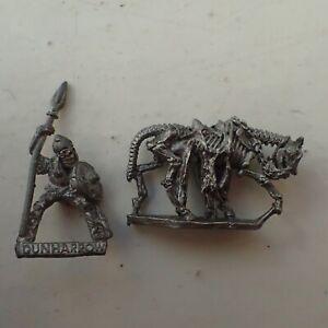 Warhammer Citadel classic 80s Undead LOTR ME72 Deadman of Dunharrow Mounted oop