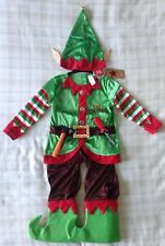 Boys 5pce Santa's Workshop Elf Fancy Dress up Costume With Toy Tools 3-4 Years