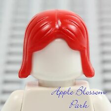 NEW Lego Minifig Short RED HAIR -Girl Friends Female Long Straight Boy Head Gear