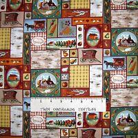 Fall Fabric - Farmer's Market Rustic Harvest Patch - Northcott OOP YARD