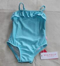 Seafolly Girls Vintage Blue 1 Piece TubeTank Bathers Size 0  6-12 Months New