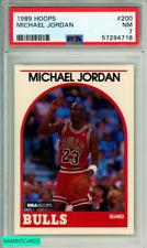 1989 HOOPS MICHAEL JORDAN #200 HOF CHICAGO BULLS PSA NM 7