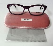 MIU MIU Prescription Eyeglasses VMU02I PC4-101 Purple Frame 52-16-140mm
