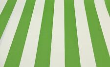 RICHLOOM CABANA STRIPE CITRUS GREEN WHITE OUTDOOR FURNITURE FABRIC BY THE YARD
