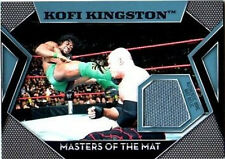 WWE Kofi Kingston Topps 2011 Masters of the Mat Event Used Relic Card FD