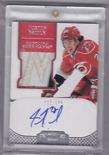 JUSTIN FAULK 2011-12 DOMINION AUTOGRAPH RC JERSEY SP 112/199 #135