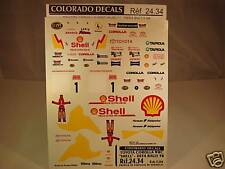 "DECALS 1/24 TOYOTA COROLLA #1 WRC 98 ""SHELL"" DEFA RALLY- COLORADO  2434"