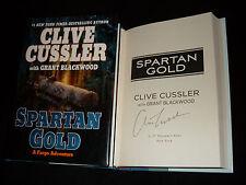 Clive Cussler signed Spartan Gold 1st printing hardcover book