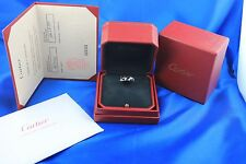Cartier Signature Diamond 18kt White Gold Ring with Box & Papers Size 48