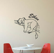 Personalized Lion King Wall Decal Simba Gift Vinyl Sticker Custom Name Decor 617