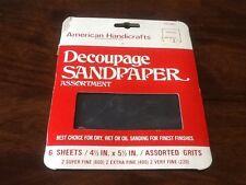 Vintage Decoupage Sandpaper 6 Sheets Nip American Handicrafts Waterproof