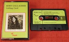 RORY GALLAGHER - UK CASSETTE TAPE - CALLING CARD - PAPER LABELS
