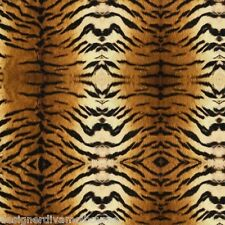 Return To The Wild Tiger Stripe Brown/Ivory cotton quilting fabric