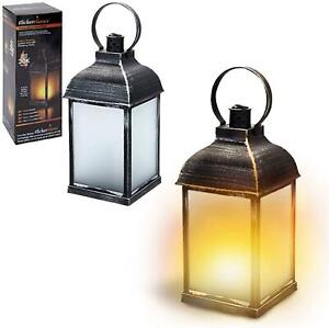 4-Way Flickering Fire LED Lantern Home And Garden Dancing Fire Lamp Fake Flame