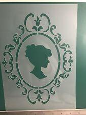 Lady Shabby Chic Love Stencil A4 Wall Craft furniture laser cutMylar 125m