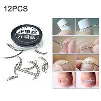 AU_ 12Pcs Ingrown Toe Nail Correction Wire Pedicure Toenail Corrector Foot Care