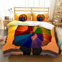 Twilight Umbrella 3D Quilt Duvet Doona Cover Set Single Double Queen King Print