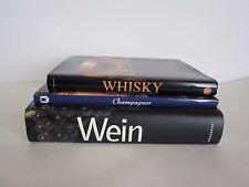 WEIN CHAMPAGNER WHISKY Überblick Nachschlagewerk Wissen Konversation - 3 Bücher