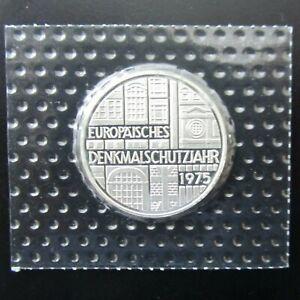 5 DM Gedenkmünze 1975 F Silber Denkmalschutzjahr PP Originalverpackt