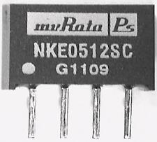 2 x MURATA nke0512sc ISOLATO 1w CONVERTITORE CC-CC VIN 4.5 - 5.5 VDC, CAT 12v DC